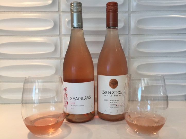 2017 Seaglass Monterey County Rosé & 2017 Benziger Winery North Coast Rosé