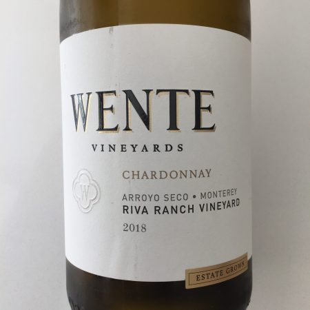 Front label of Wente Vineyards 2018 Riva Ranch Vineyard Chardonnay