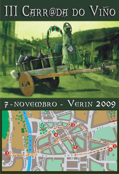 Cartel  da III carrada do viño