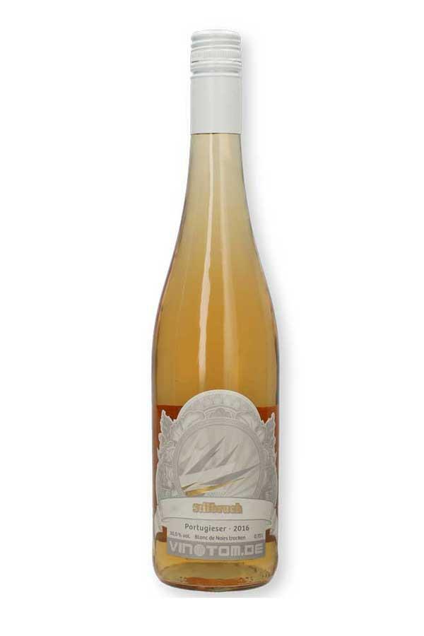 Weinflasche - Stilbruch - Rosé - Portugieser (Blanc de Noirs) - halbtrocken