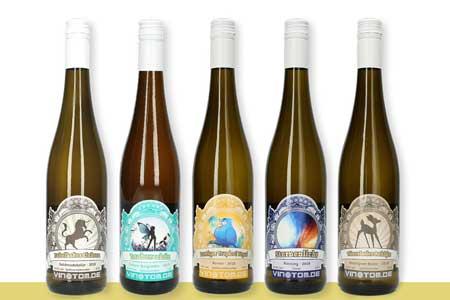 Weinflaschen Weißweine