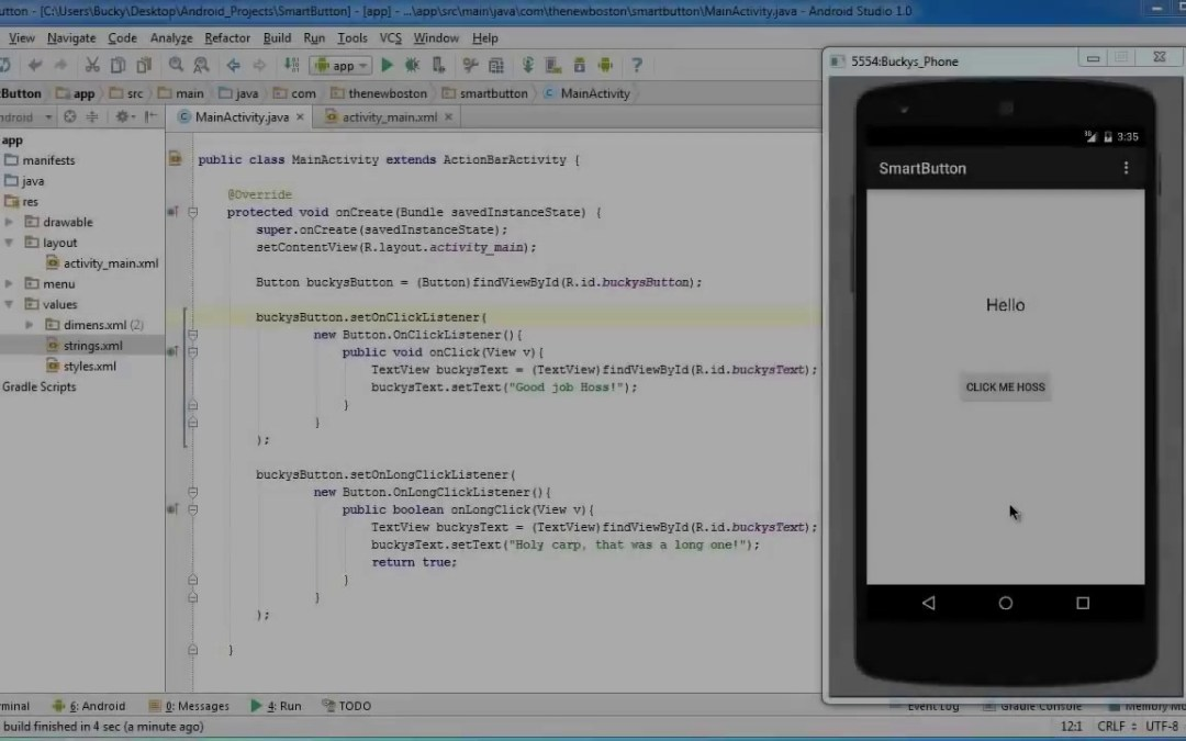 Android App Development for Beginners   20   Multiple Event Listeners   YouTube