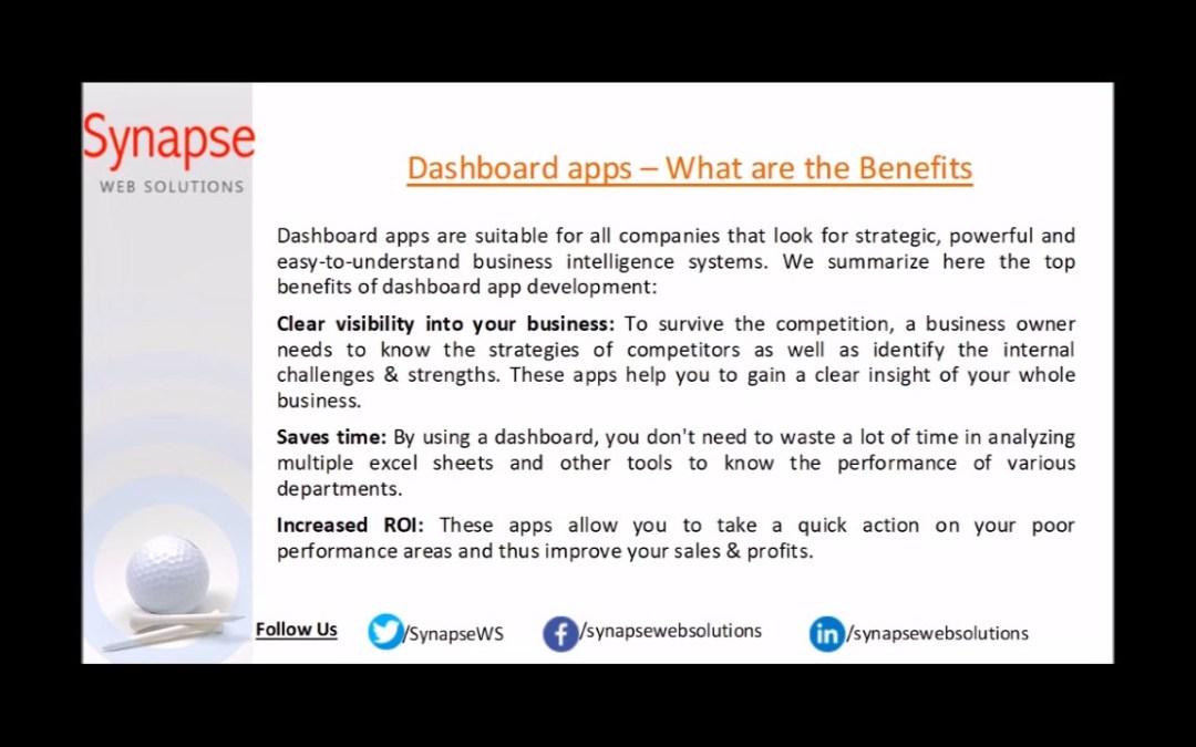 Dashboard application development services: Simplifying complex data