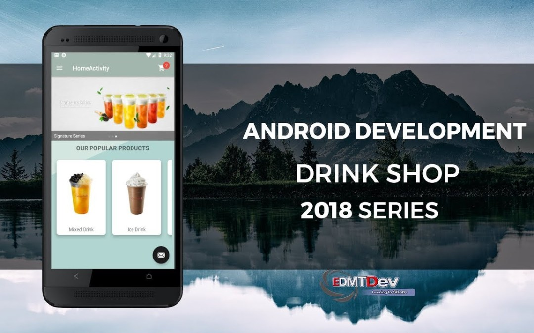 Android Development Tutorial – Drink Shop App part 10 Display Cart icon with notification badge