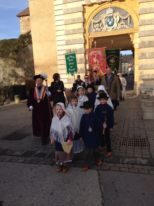Procession of St. Vincent to Mass in Givry.