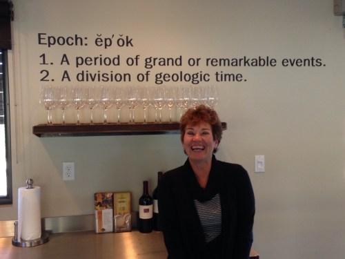 Lesa Johnson at Epoch Winery, York Mountain AVA