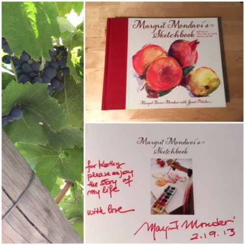 One of Margrit Mondavi's books, a celebration of wine, art and food.