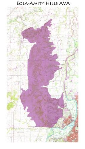 map of the Eola-Amity Hills AVA