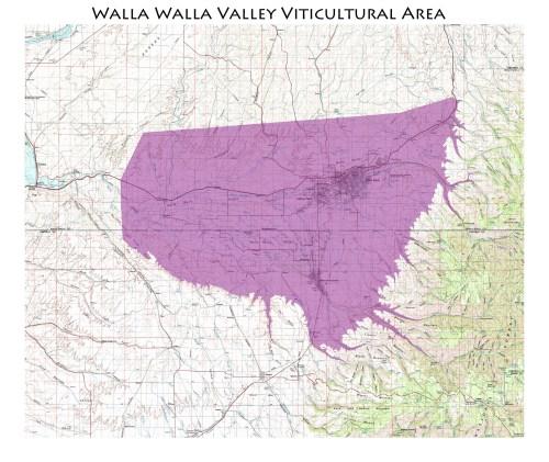 map of the Walla Walla AVA