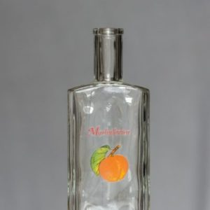Fľaša Ražná 1000 ml (vzor ovocie)