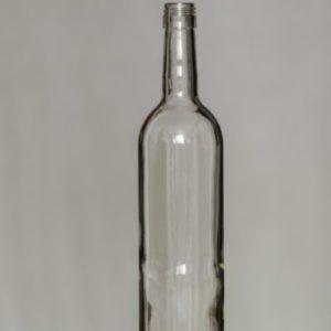 Fľaša Bordeaux 750 ml číra + uzáver na závit