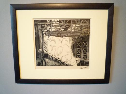 在米堡艺术馆拍的展品,表现的就是米堡的矿业