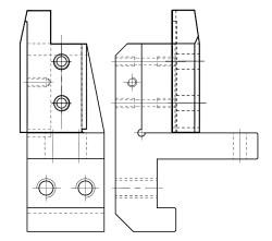 6x0 R Blade Holder Left/Right