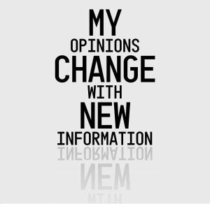 Opinions change