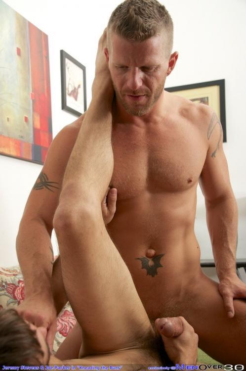 Jeremy Stevens fuck Joe Parker gay hot daddy dude men porn Kneading the Bone