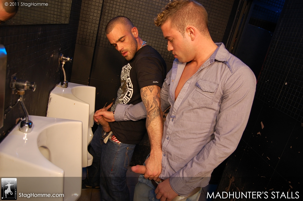 Damien Crosse fuck Valentino Madhunters Stalls gay hot daddy dude men porn