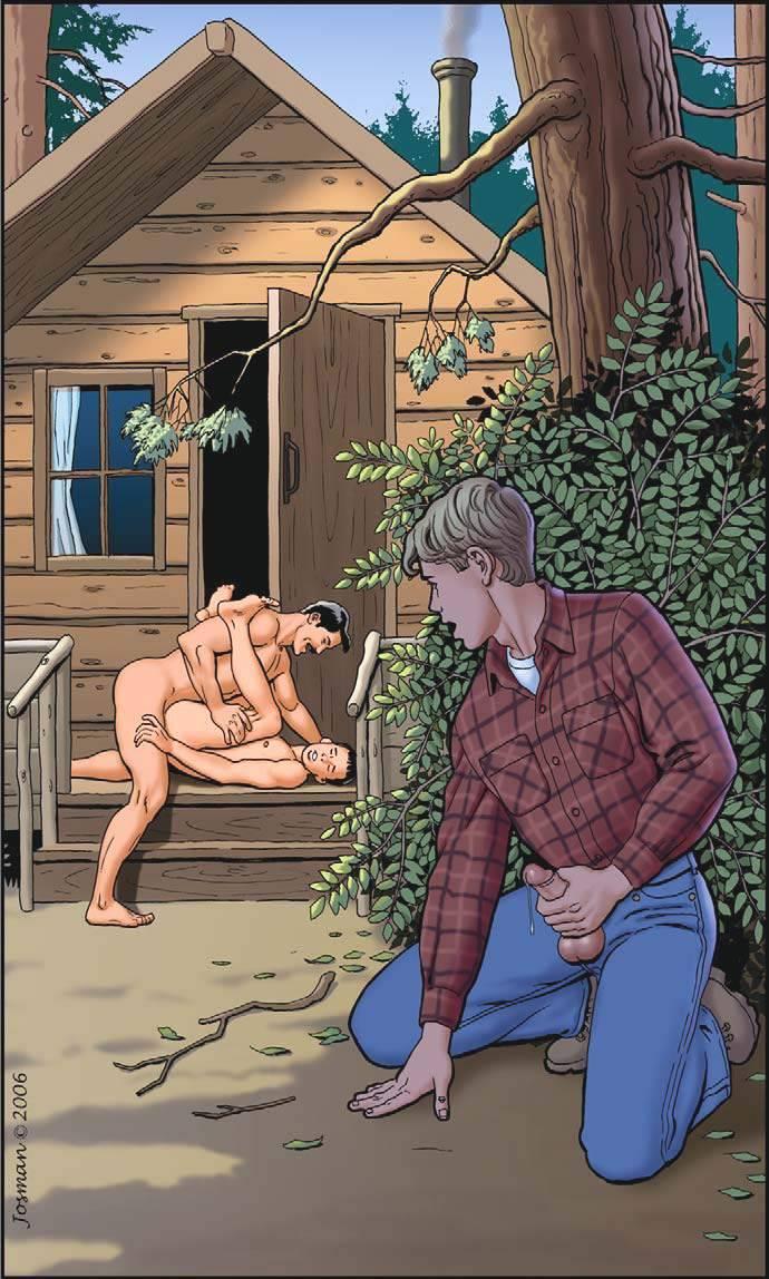 gay hot daddy dude men fuck porn erotic art