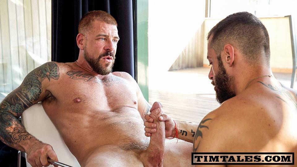Rocco Steele bareback fuck gay hot daddy dude men porn David Avila