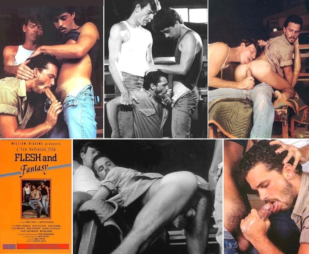 Rob Stevens Mike Cole fuck Randy Gutzman vintage gay hot dude daddy str8 tradie men porn Flesh Fantasy