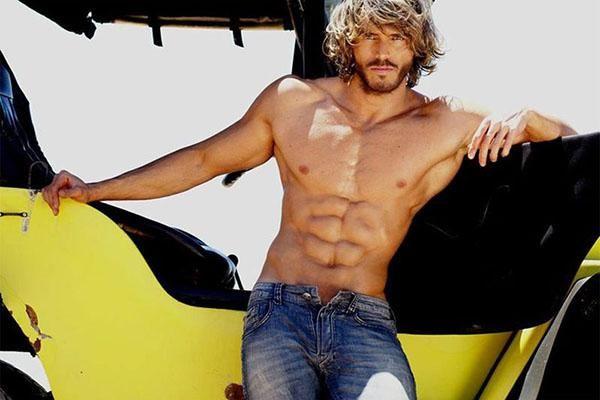 Franklin David hot ripped male model