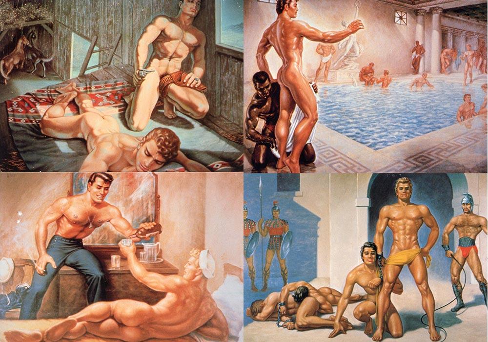 George Quaintance vintage gay daddy dude men porn art
