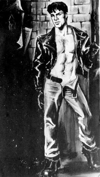 Etienne (Dom Orejudos) gay erotic vintage gay hot daddy dude men leather porn art