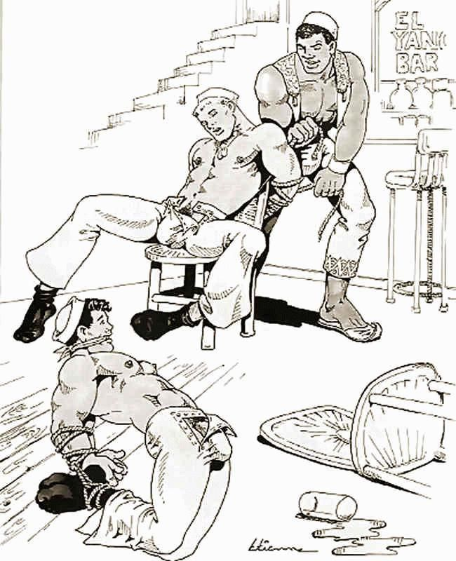 Etienne (Dom Orejudos) gay erotic vintage military daddy dude men porn art