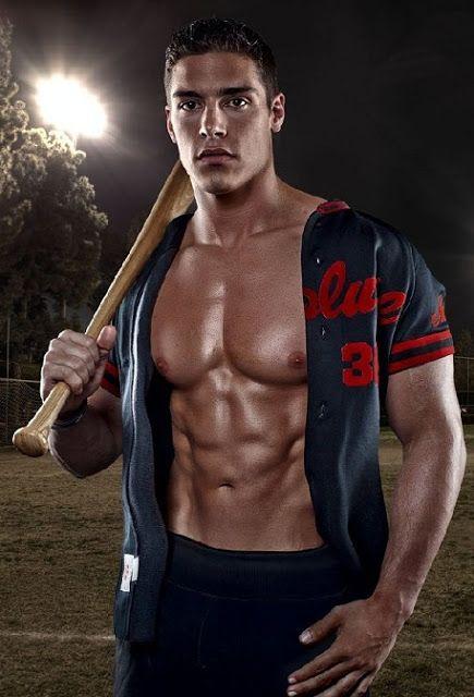 shirtless hot daddy dude men baseball players
