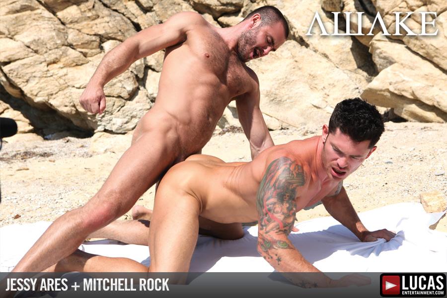 Jessy Ares fuck Mitchell Rock gay hot daddy dude men porn Awake