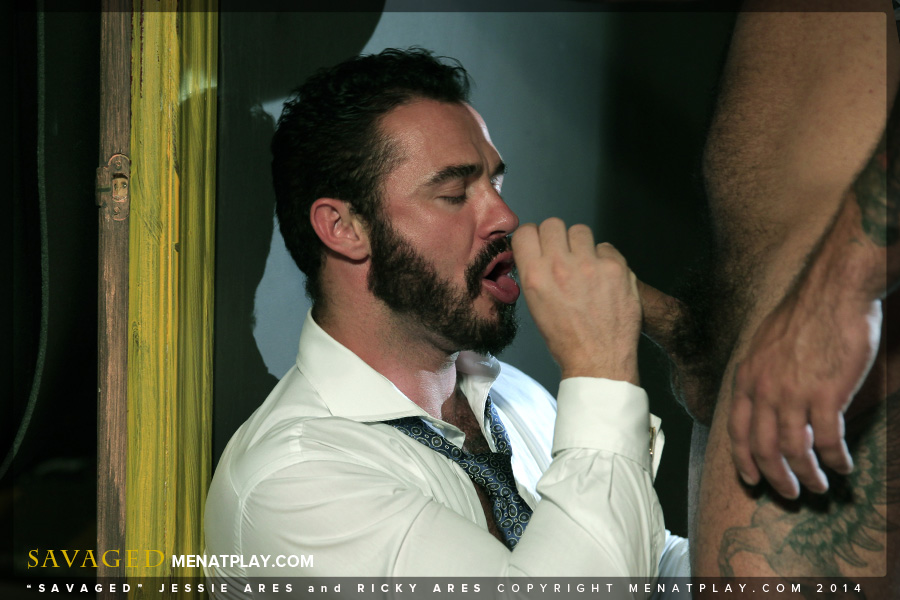 Ricky Ares fuck Jessy Ares gay hot daddy dude men porn Savaged