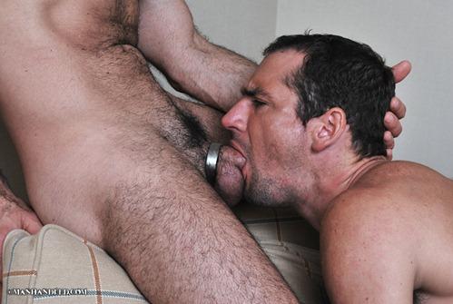Adam Russo fuck John Jockson gay hot daddy dude men porn Manhandled