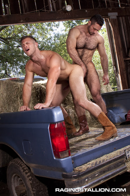 Adam Champ fuck Paul Wagner gay hot daddy dude men porn Cowboys
