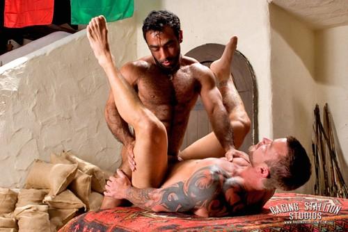 Huessein fuck Colin West gay hot daddy dude men porn Arabesque