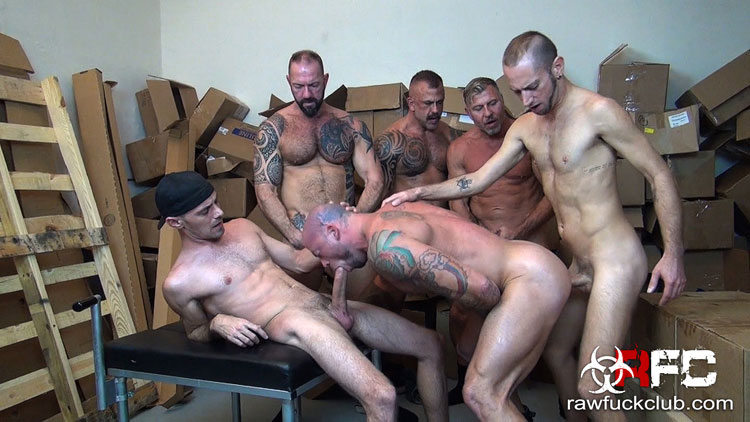 Sean Duran gangbang gay hot daddy dude men porn Raw Fuck Club