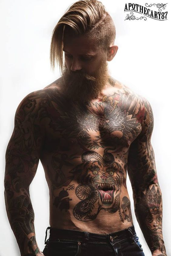 Josh Mario John hot inked daddies dudes men