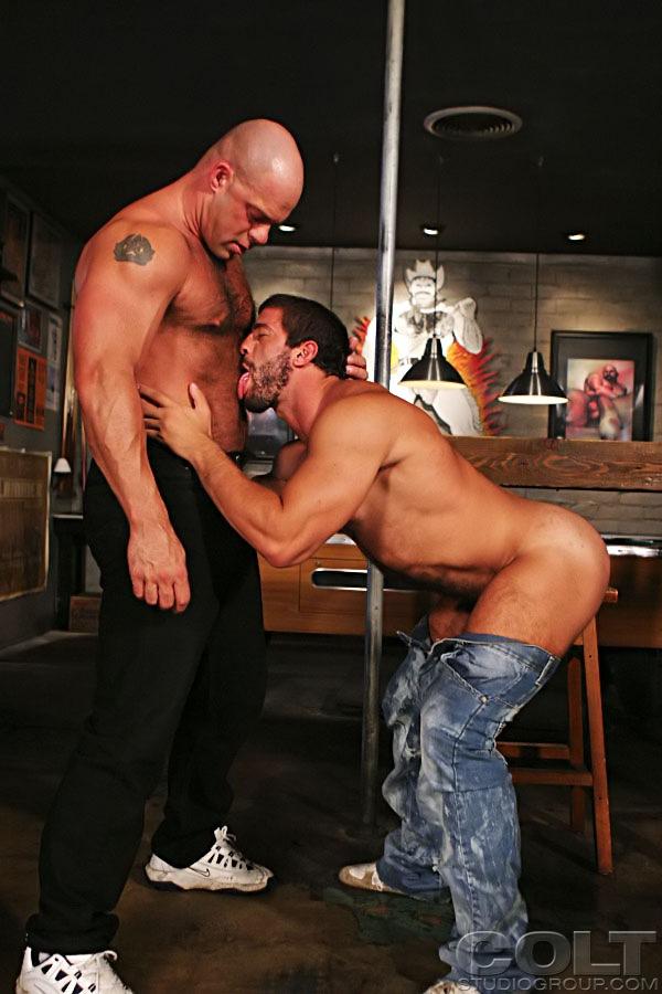 Zak Spears fuck Carlo Masi gay hot daddy dude men porn BuckleRoos