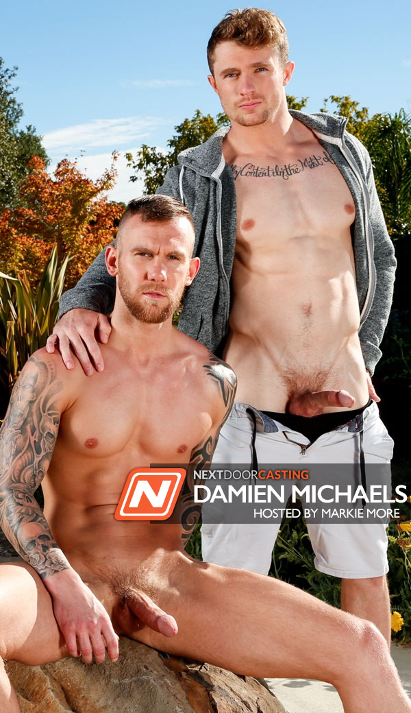 Markie More fuck Damien Michaels gay hot daddy dude men porn Next Door Casting