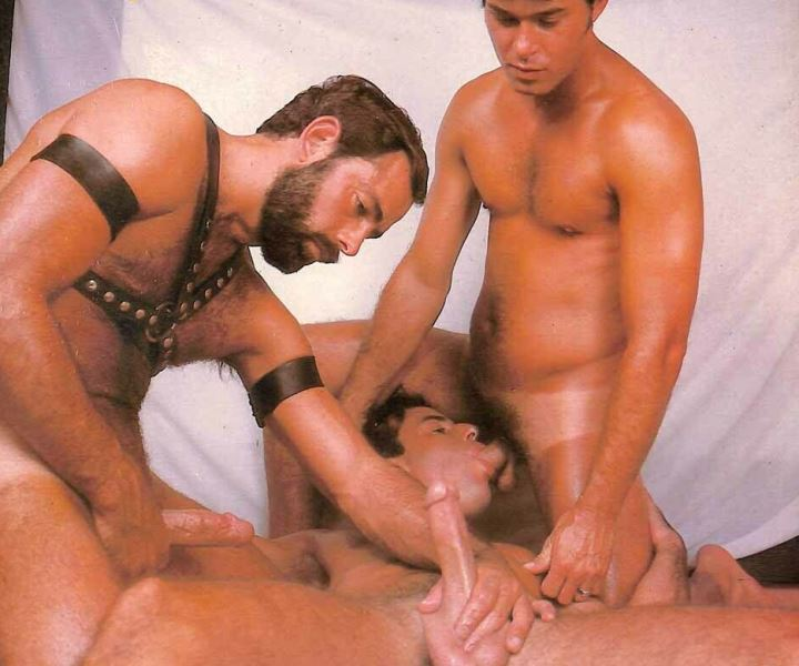 Kevin Scott, Rick Adams vintage gay hot daddy dude men porn SFO Orgy