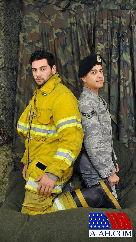 Landon Paolo gay hot daddy dude men porn fireman military A-AH