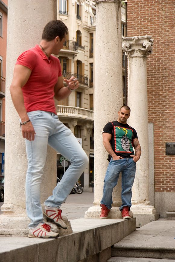 Ettore Tosi fuck Damien Crosse When in Madrid gay hot daddy dude men porn