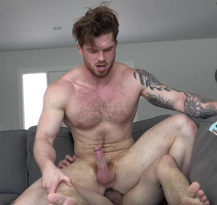 Marc Wallace fuck Dustin Hazel gay hot daddy dude men porn str8