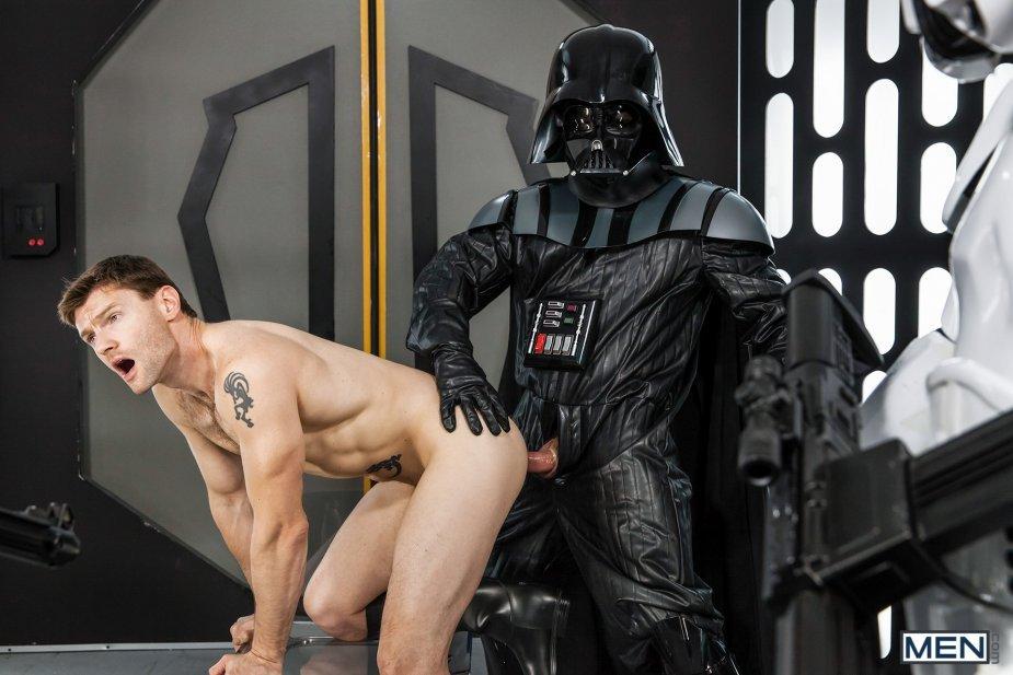Darth Vader fuck Dennis West gay hot daddy dude men porn Star Wars parody