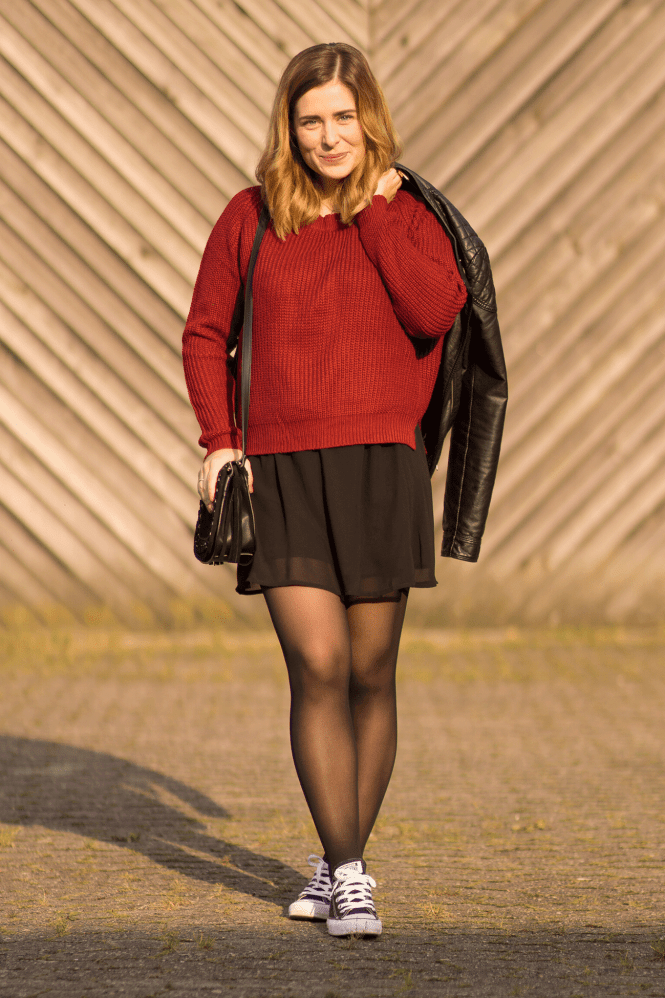 OUTFIT // STRICKPULLOVER & ROCK