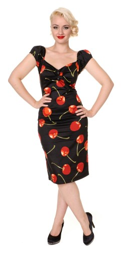 Dolores dress cherry black