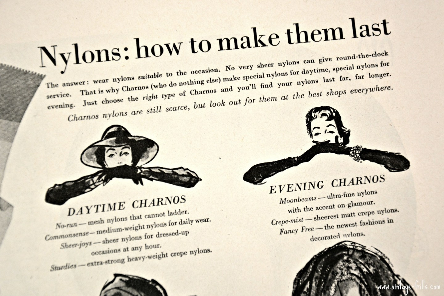 1954 Charnos Stocking Advert