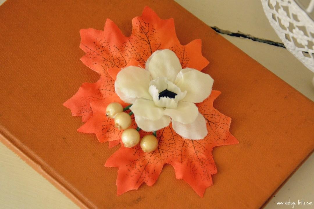Rosie Alia Autumn Hair Flower