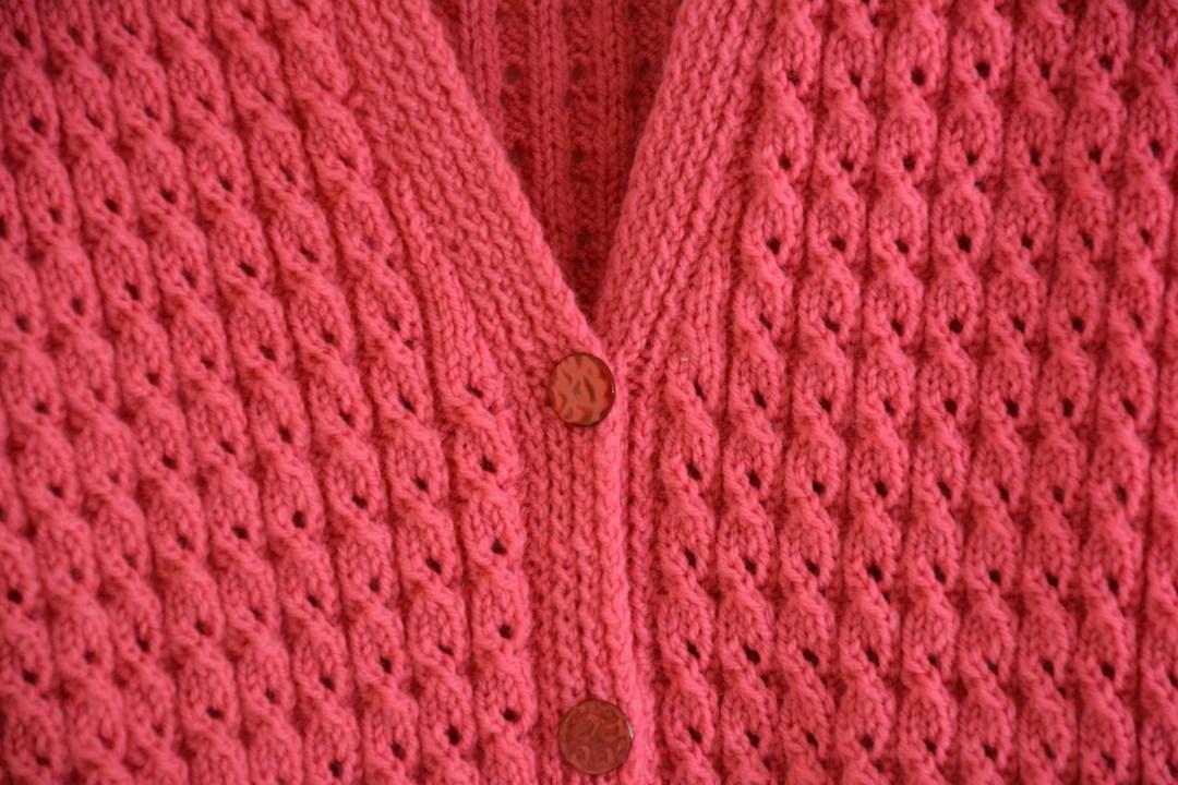 Pink Cardigan 2