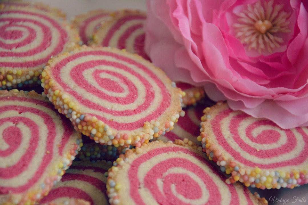 Pink Pinwheel Cookies
