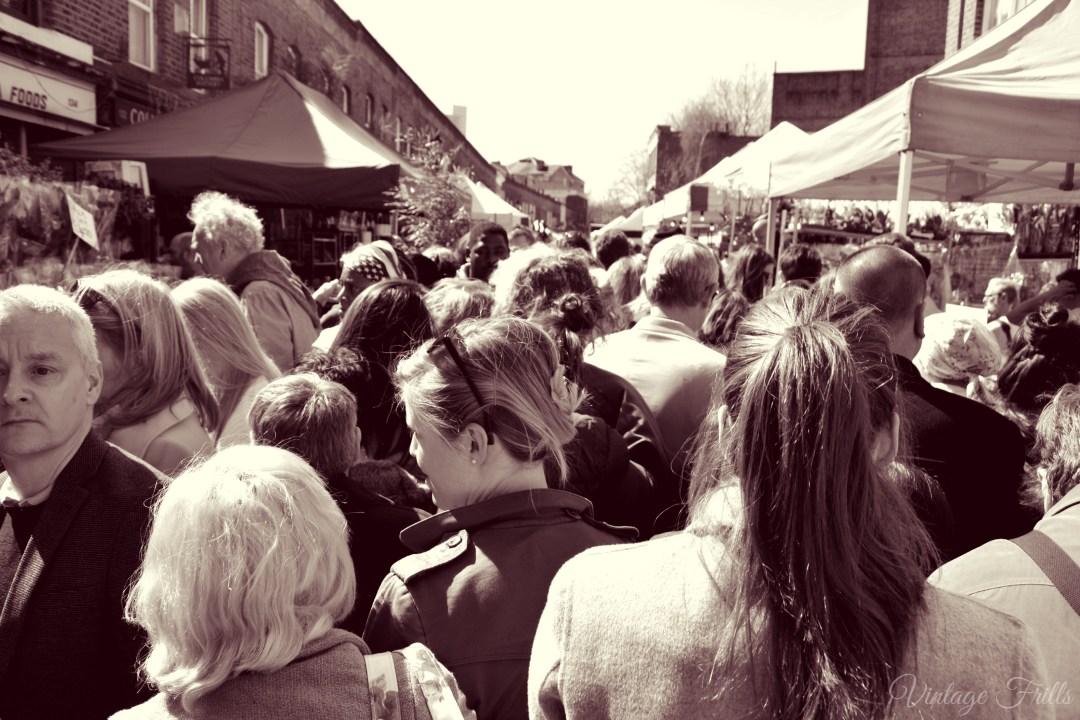 Columbia Road Market Crowds