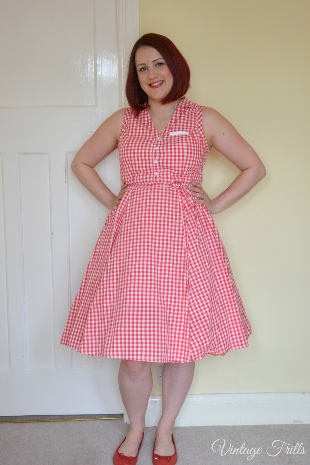 Sainsburys Red Gingham Dress with Petticoat